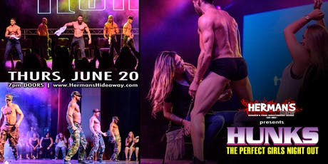 HUNKS (LADIES NIGHT OUT) tickets