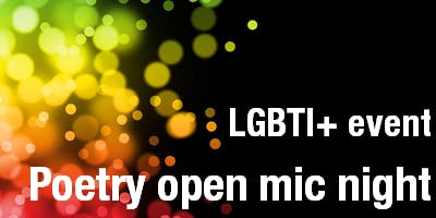 Poetry open mic night LGBTI+ event