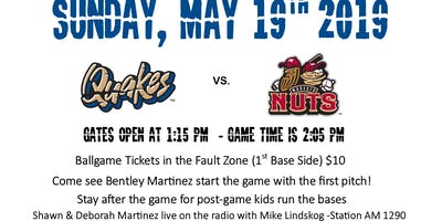 Foster Care Awareness @ Quakes Baseball Game