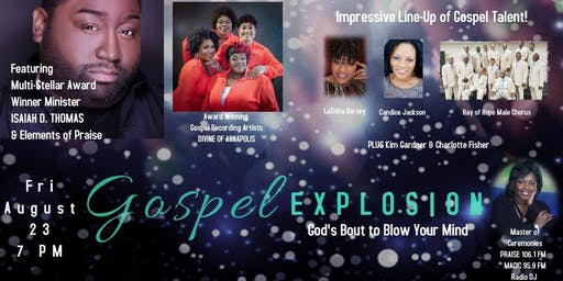 EARLY BIRD TICKETS!!! GOSPEL EXPLOSION...God's Bout to Blow Your Mind