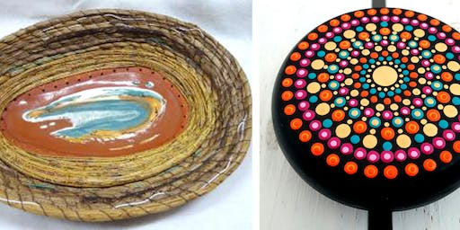 Free Artist Demonstration: Woven Clay Vessels and Painted Stones
