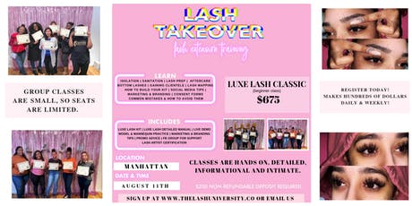 MINK LASH TRAINING - HANDS ON - DETAILED tickets
