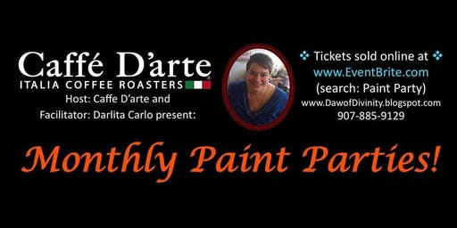 Paint Party at Caffe D'arte on 6/15/19!