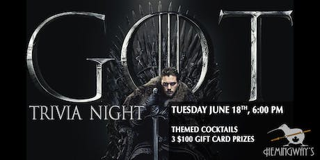 Game of Thrones Trivia 3.1 tickets