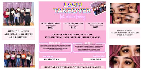 2 IN 1 LASH TRAINING - HANDS ON - DETAILED tickets