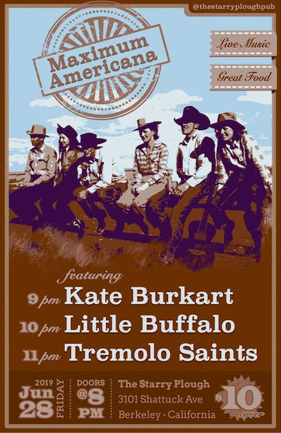 Tremolo Saints, Little Buffalo, The Kate Burkart Band