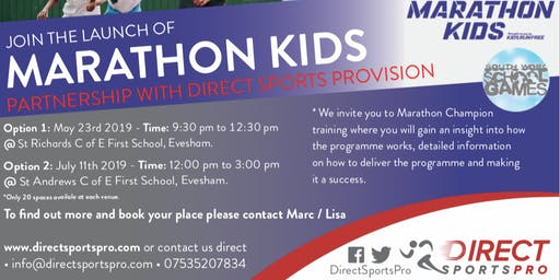 Marathon Kids Launch Free Workshop - 11th July