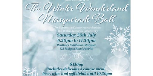 The Winter Wonderland Masquerade Ball - For Pancreatic Cancer