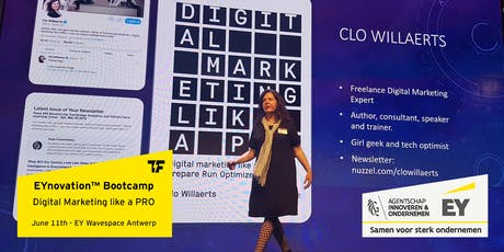 EYnovation™ Bootcamp: Digital Marketing like a PRO - with Clo Willaerts tickets
