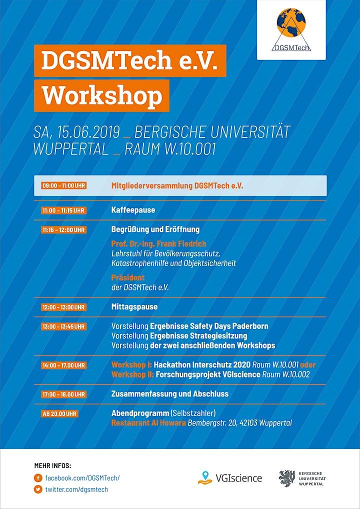 DGSMTech Mitgliederversammlung + Workshop: Bild