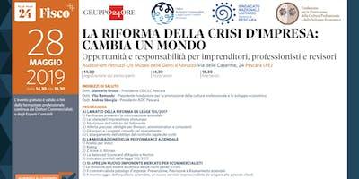 LA RIFORMA DELLA CRISI D'IMPRESA CAMBIA UN MONDO, Pescara, 28 maggio