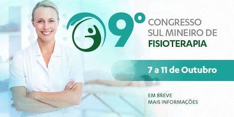 9º Congresso Sul Mineiro de Fisioterapia ingressos