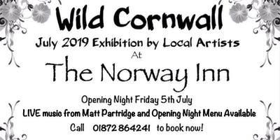 Wild Cornwall Art Exhibition at The Norway Inn