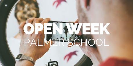 Open Week | Luglio | Palmer School biglietti