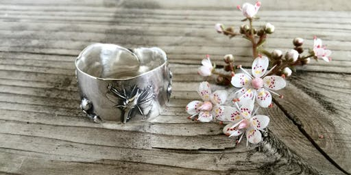 Silver Clay Botanical Rings