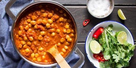 Meatless Monday: Indian Chana Masala with Yogurt-Cucumber Raita & Green Chutney tickets