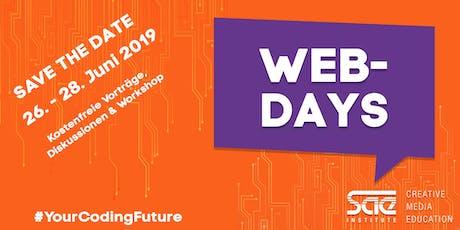 Die SAE Web-Days - Kostenfreie Vorträge, Diskussionsrunden & Workshop! Tickets