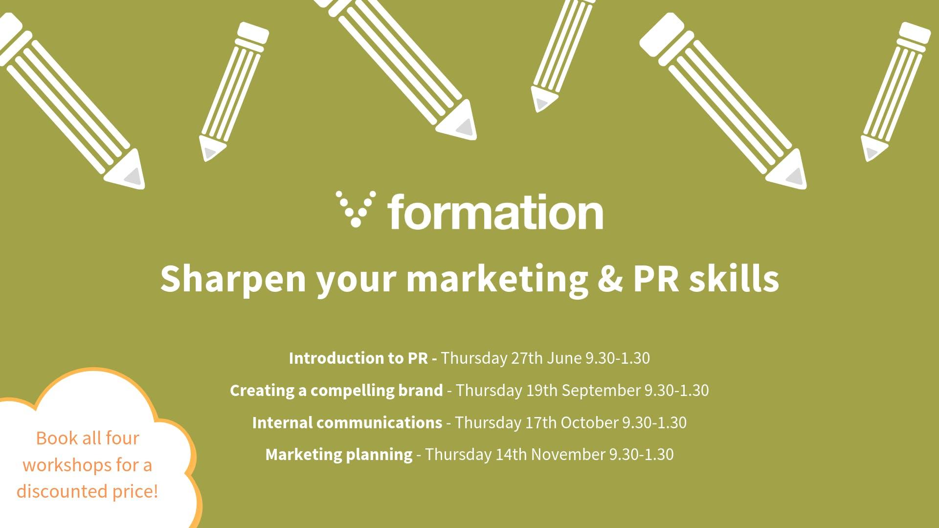 Sharpen your marketing & PR skills workshops
