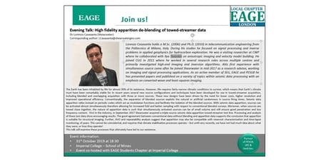 EAGE London Evening Talk: High fidelity apparition de-blending of towed-streamer data tickets