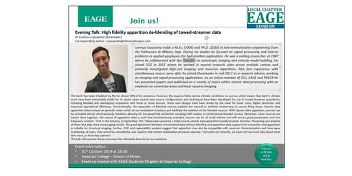 EAGE London Evening Talk: High fidelity apparition de-blending of towed-streamer data