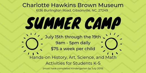 Summer Camp at the Charlotte Hawkins Brown Museum