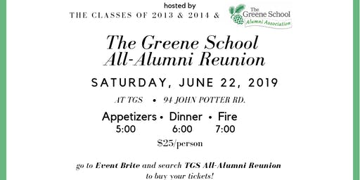 TGS All-Alumni Reunion, hosted by the classes of 2013 and 2014