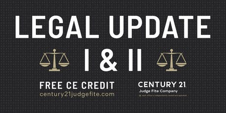 TREC Legal Update I and II - 9.11.19 tickets