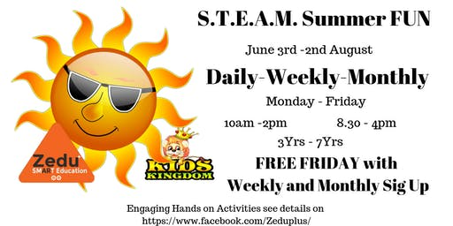 STEAM Summer Fun for 3yrs-7yrs