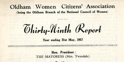 Women's Groups in Oldham After 1918 By Shelia Goodyear
