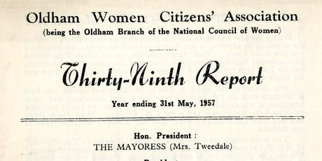 Women's Groups in Oldham After 1918 By Shelia Goodyear tickets