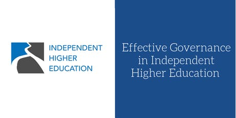 Effective Governance in Independent Higher Education tickets