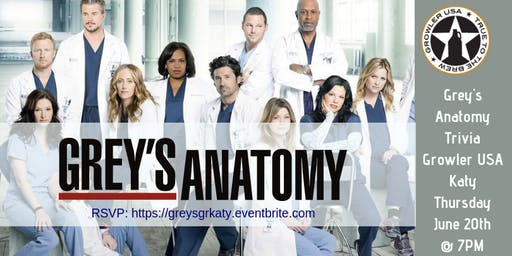 Grey's Anatomy Trivia at Growler USA Katy