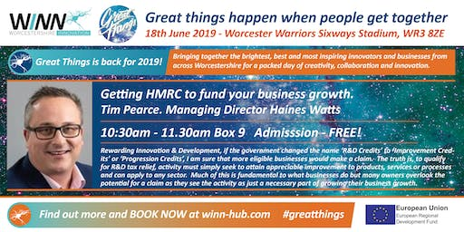 Getting HMRC to fund your business growth. Tim Pearce. Managing Director Haines Watts