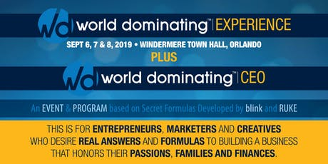 World Dominating Experience tickets
