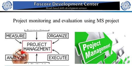 Project Management Monitoring and Evaluation with MS Projects Course tickets