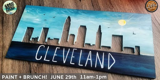 Cleveland Skyline Punch Out| Paint + Brunch [Two Bucks Avon]