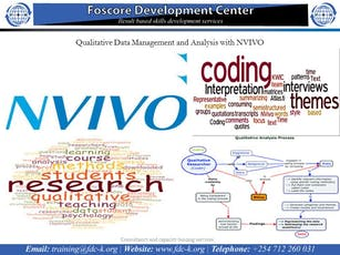 Qualitative Data Management and Analysis with NVIVO course tickets