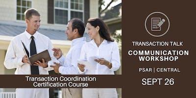 Transaction Talk Communication Workshop