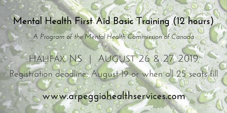 Mental Health First Aid Basic Training - Halifax, NS - Aug. 26 & 27, 2019 tickets