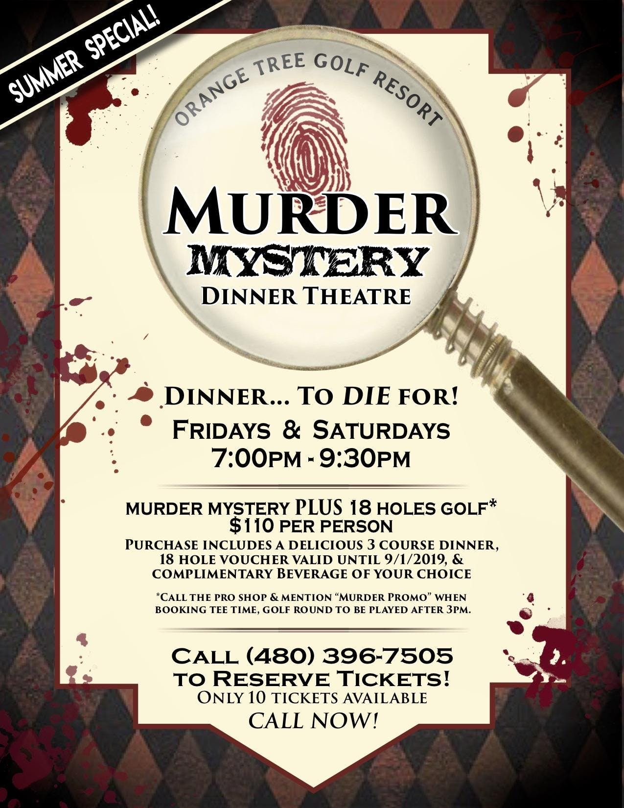 Murder Mystery and Golf at Orange Tree