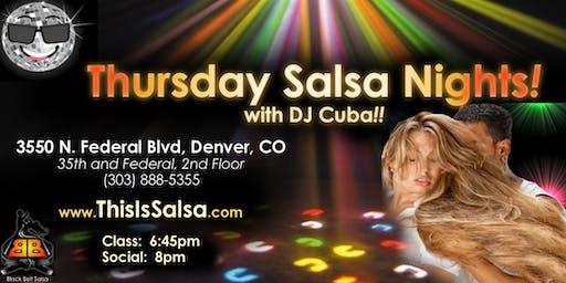 Thursday Night Salsa in Denver!!