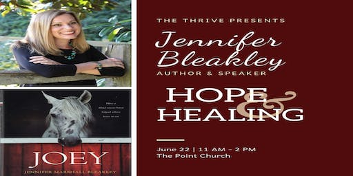 Women's Event with award winning Jennifer Bleakley. Author of the book Joey.