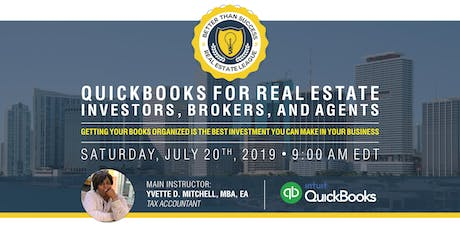 Quick Books For Real Estate - Investors, Brokers, and Agents tickets