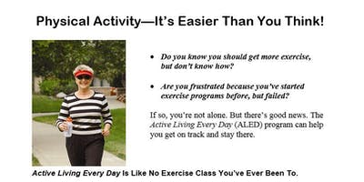 FREE Active Living Every Day Class: Hastings Senior Center12 Week Class Series