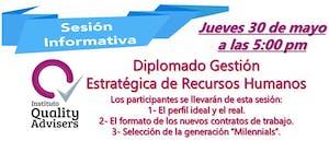 """SESIÓN INFORMATIVA GRATUITA """"Diplomado en Gestión de..."""