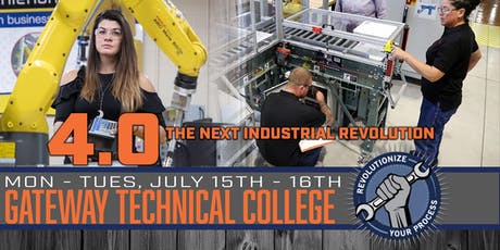 4.0 - The Next Industrial Revolution at Gateway Technical College tickets