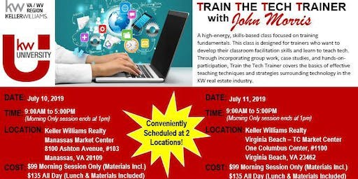 NORTHERN VA: TRAIN THE TECH TRAINER with JOHN MORRIS 2019