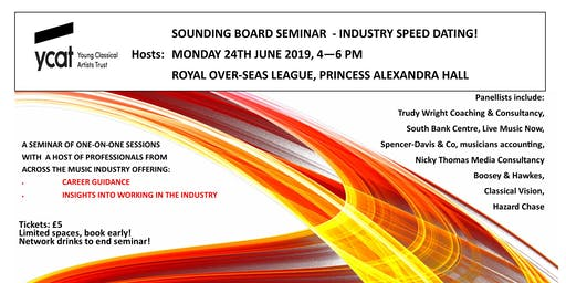 Industry Speed Dating! One-on-one sessions with music professionals.