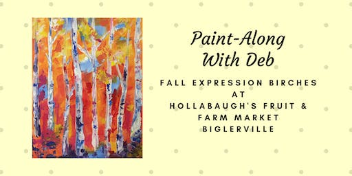 Fall Expression Birches - Hollabaugh Bros. Inc. Paint-Along