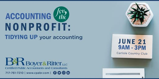 Accounting for the Nonprofit: TIDYING UP your accounting